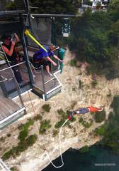 Taupo Bungy - Absprung!