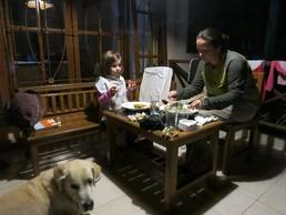 Abendessen auf der Veranda