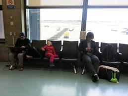 Warten auf den nächsten Flug - langweilig, langweilig, langweilig...