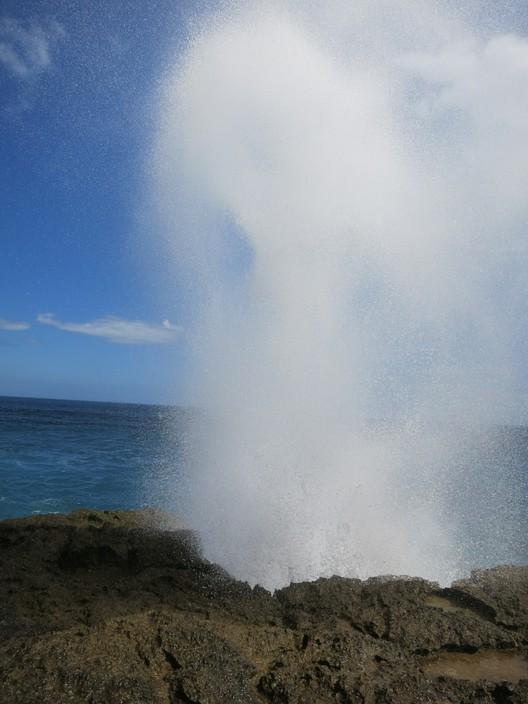 Bis zu 20 Meter hohe Wasserfontänen am Devil's Tear