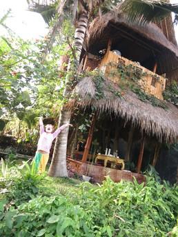 Unser kleines Bambus-Baumhaus