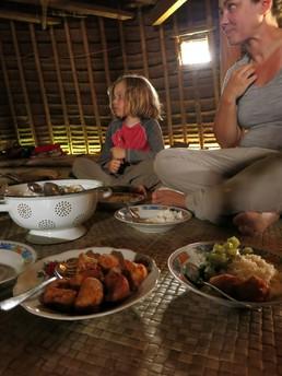 Abendessen im Gästehaus