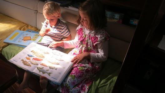 Fiona & Levi besprechen, welche Fische sie schon gesehen haben