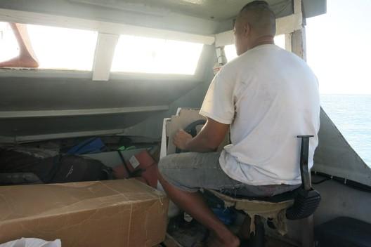 Der Arbeitsplatz eines tonganischen Fischers