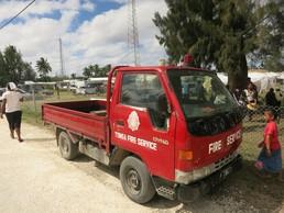 Tonganische Feuerwehr - manchmal ist weniger mehr...