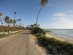 20 km an der Küste lang