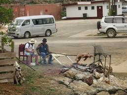 Kleines Barbecue am Hafen
