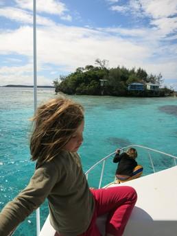 Ankunft auf der Insel Foiata