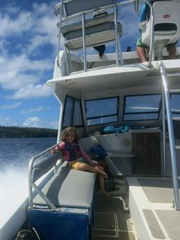 Auch ohne Wale macht das Bootfahren Spaß