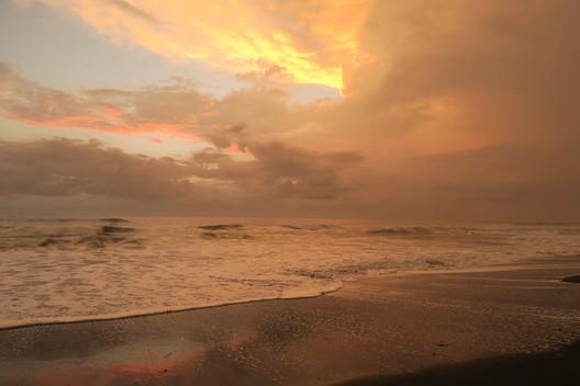 Sonnenuntergang am Strand von Ostional