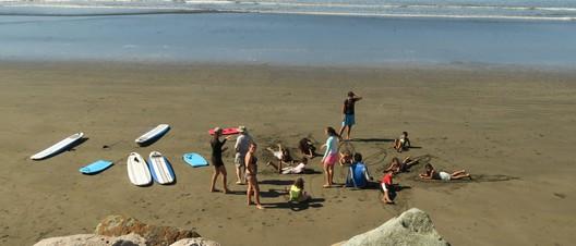 Surf-Unterricht am Strand