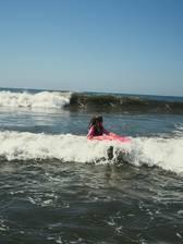 Ganz wichtig: die Welle immer im Blick behalten!