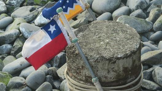Die chilenische Flagge und die der Magellan-Region
